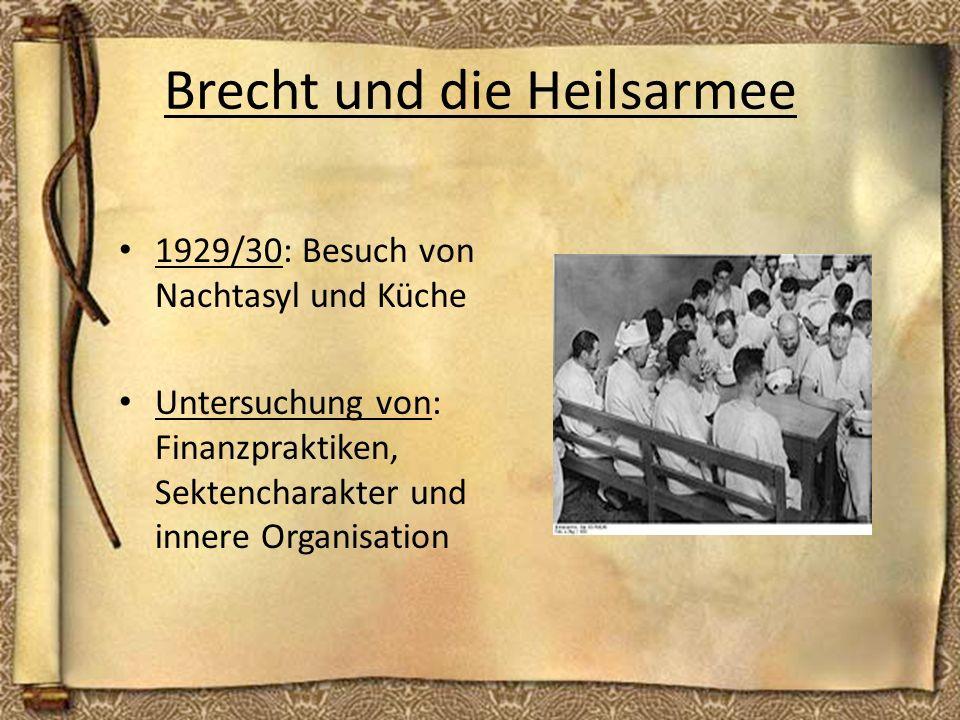 Brecht und die Heilsarmee