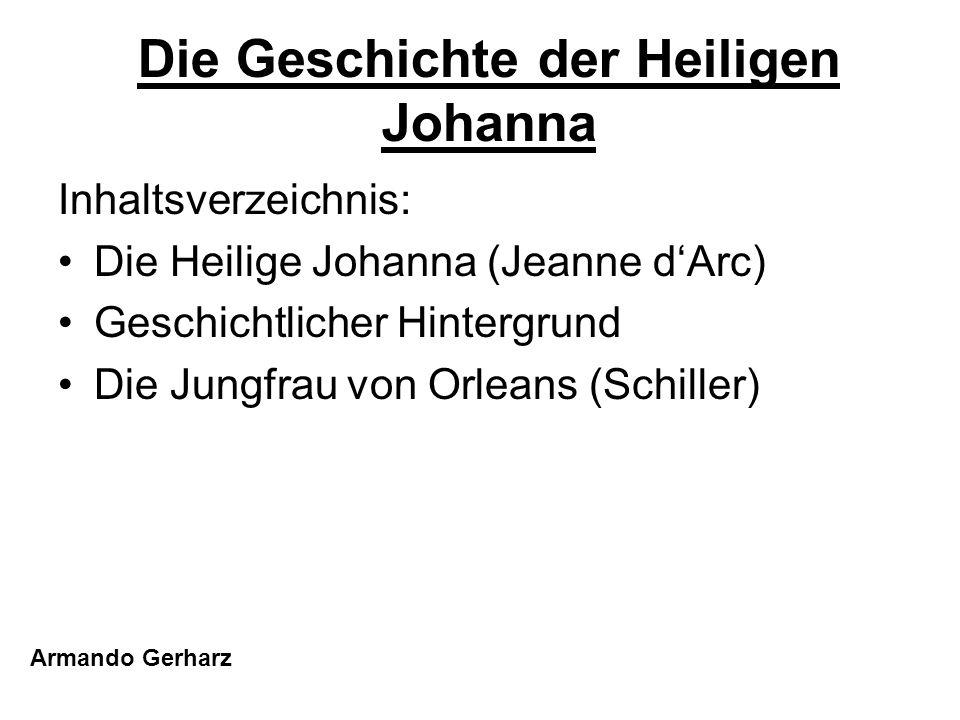 Die Geschichte der Heiligen Johanna