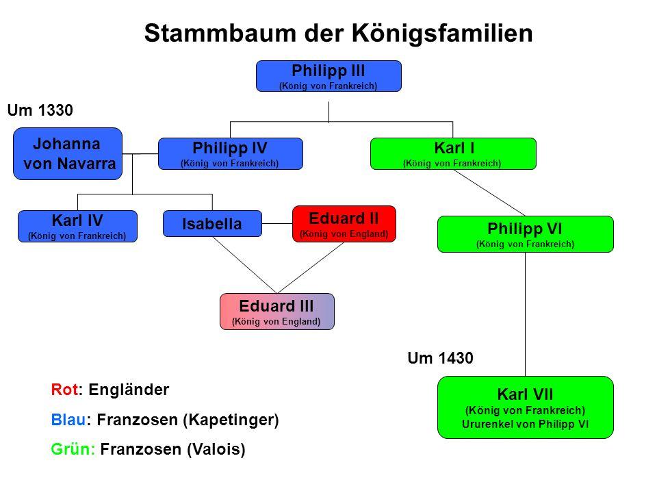 Stammbaum der Königsfamilien