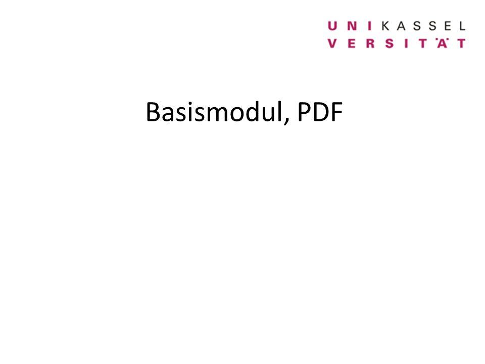 Basismodul, PDF