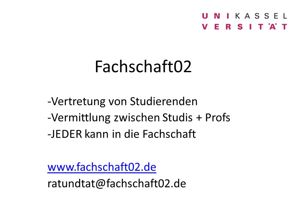 Fachschaft02 Vertretung von Studierenden