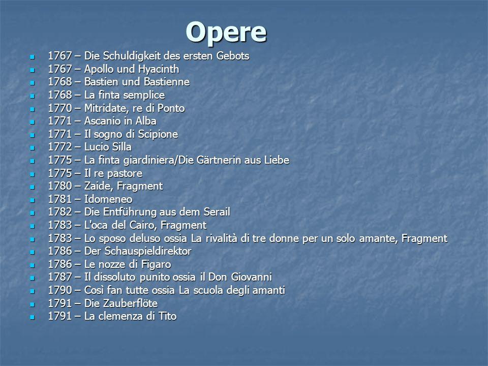 Opere 1767 – Die Schuldigkeit des ersten Gebots