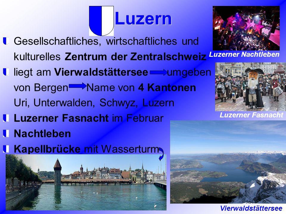 Luzern Gesellschaftliches, wirtschaftliches und