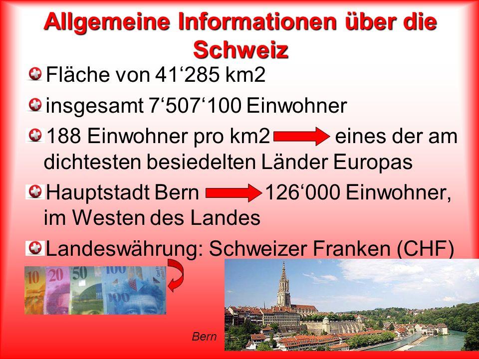 Allgemeine Informationen über die Schweiz