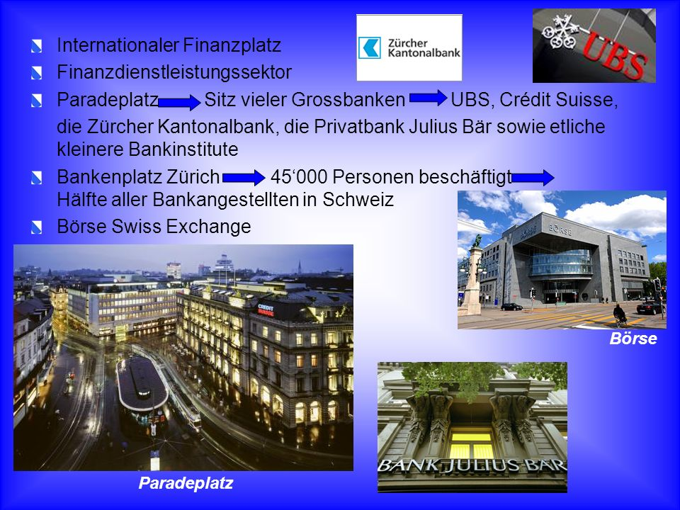 Internationaler Finanzplatz Finanzdienstleistungssektor