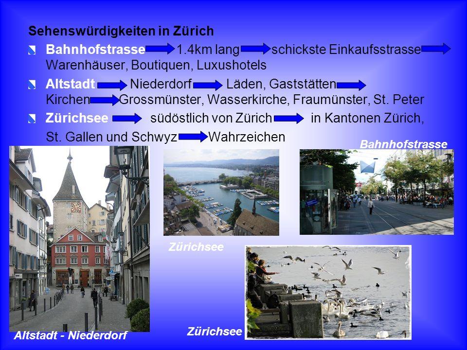 Sehenswürdigkeiten in Zürich