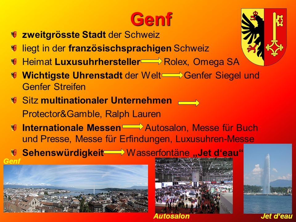 Genf zweitgrösste Stadt der Schweiz