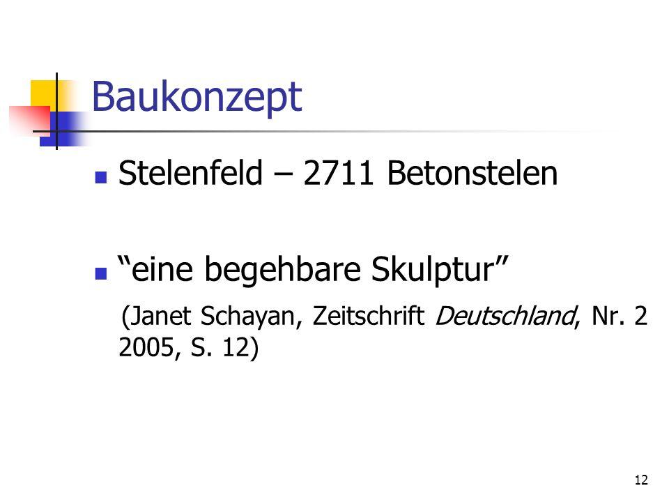 Baukonzept Stelenfeld – 2711 Betonstelen eine begehbare Skulptur