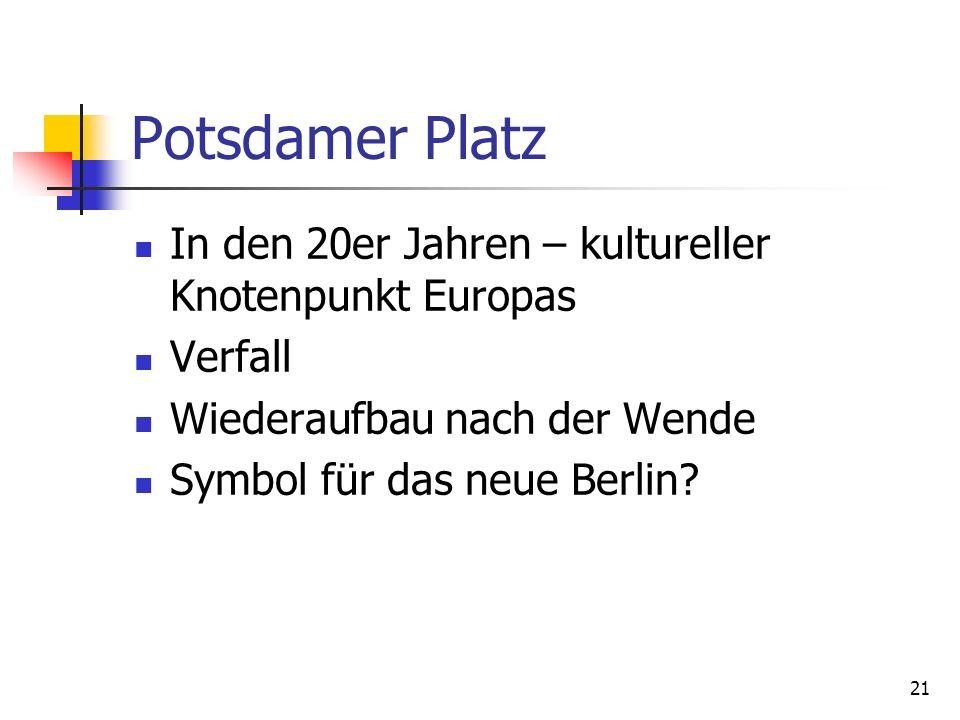 Potsdamer Platz In den 20er Jahren – kultureller Knotenpunkt Europas