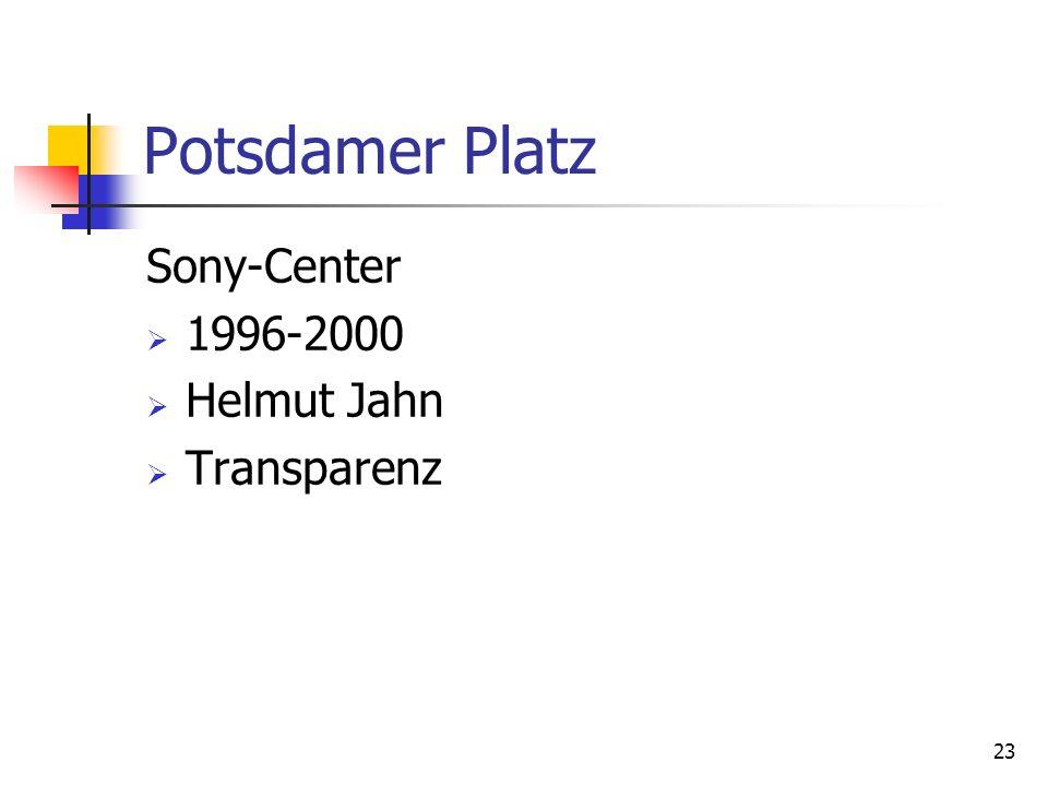 Potsdamer Platz Sony-Center 1996-2000 Helmut Jahn Transparenz