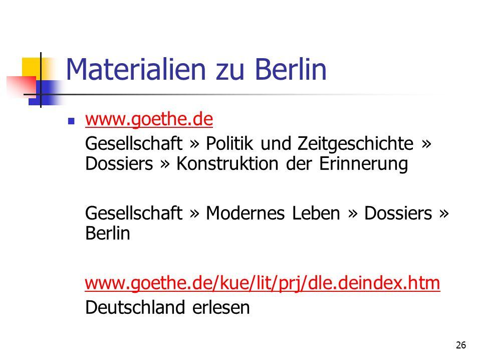 Materialien zu Berlin www.goethe.de
