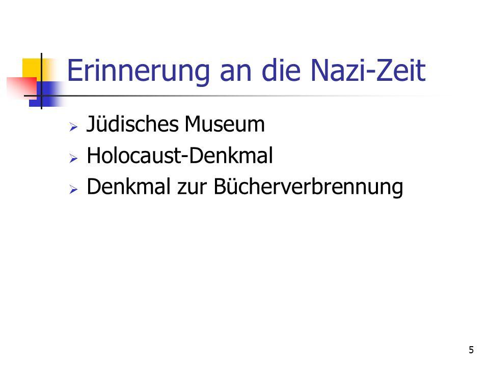 Erinnerung an die Nazi-Zeit