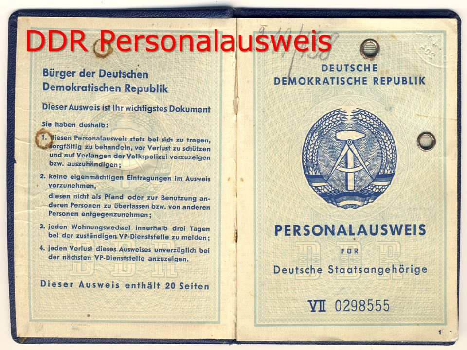 DDR Personalausweis