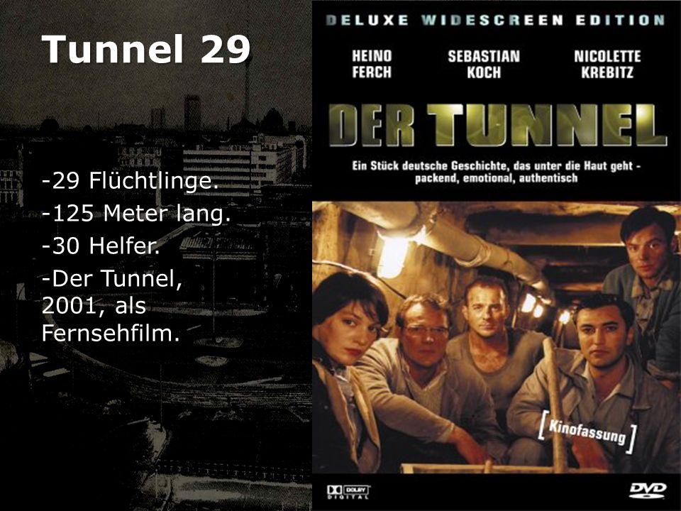 Tunnel 29 29 Flüchtlinge. 125 Meter lang. 30 Helfer.