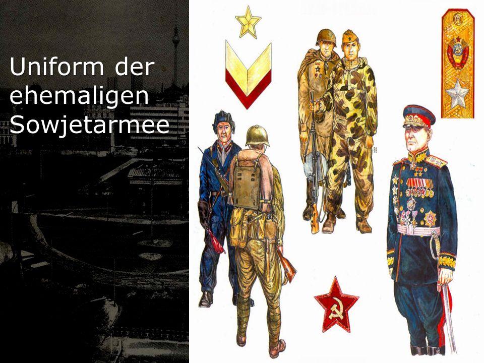 Uniform der ehemaligen Sowjetarmee