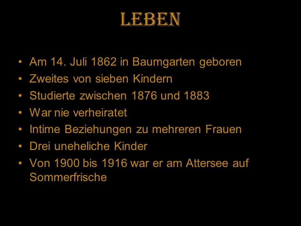 Leben Am 14. Juli 1862 in Baumgarten geboren