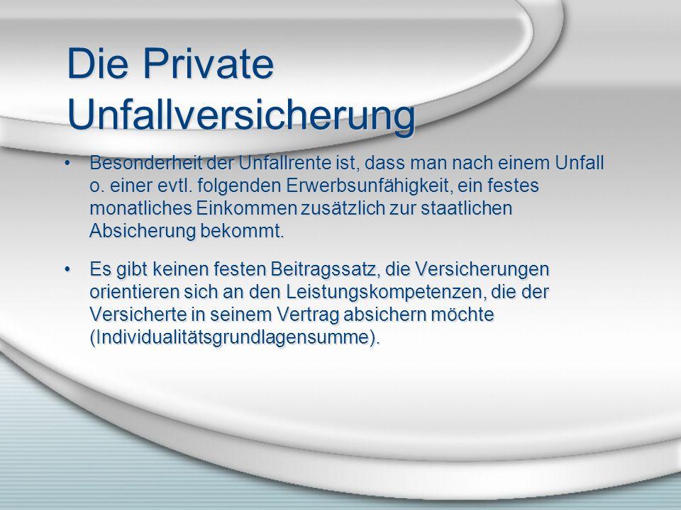 Die Private Unfallversicherung