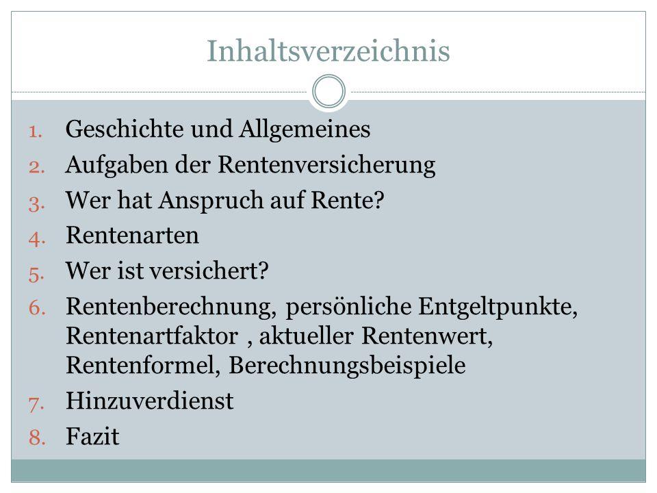 Inhaltsverzeichnis Geschichte und Allgemeines