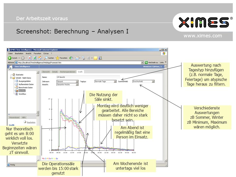 Screenshot: Berechnung – Analysen I