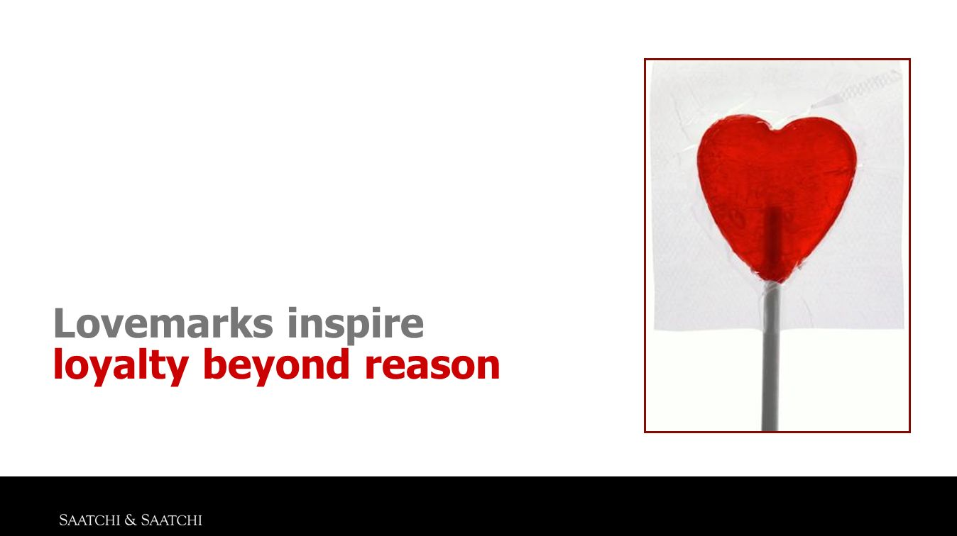 Lovemarks inspire loyalty beyond reason