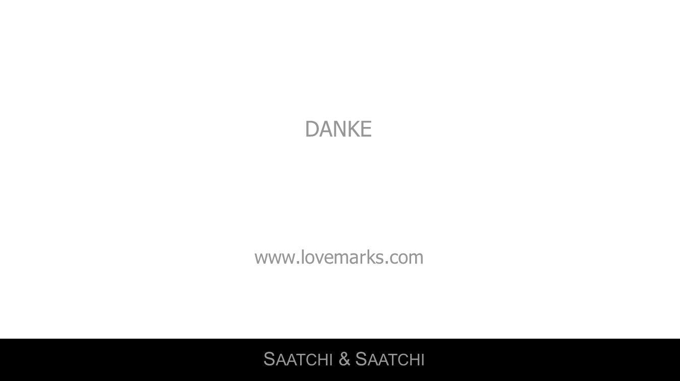 DANKE www.lovemarks.com SAATCHI & SAATCHI