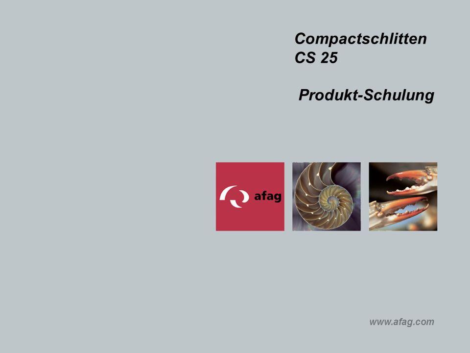 Compactschlitten CS 25 Produkt-Schulung