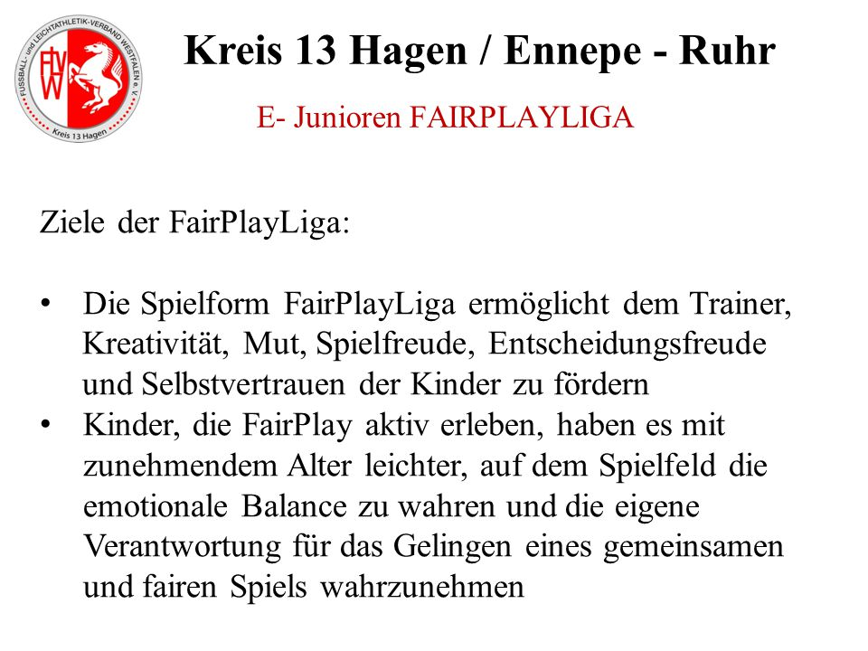 E- Junioren FAIRPLAYLIGA