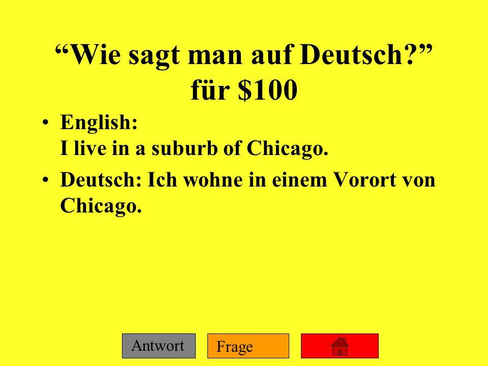 Wie sagt man auf Deutsch für $100