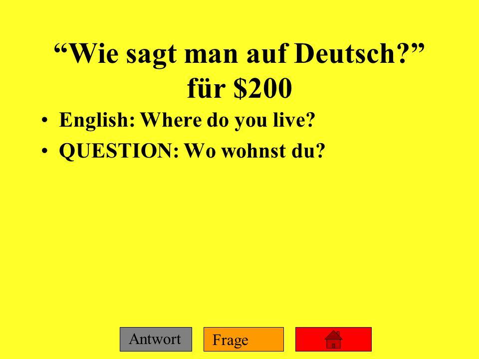 Wie sagt man auf Deutsch für $200