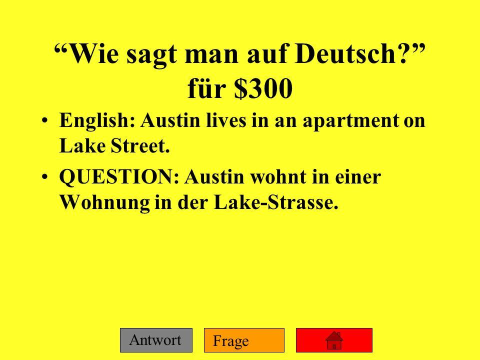 Wie sagt man auf Deutsch für $300
