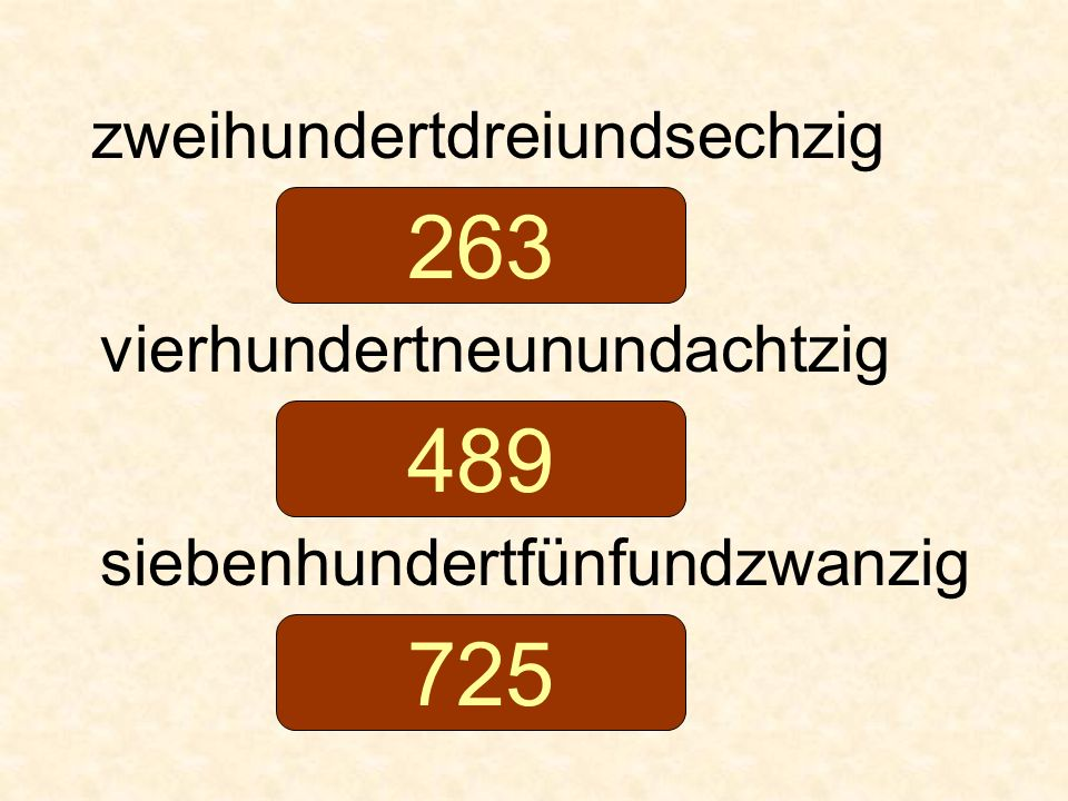 263 489 725 zweihundertdreiundsechzig vierhundertneunundachtzig