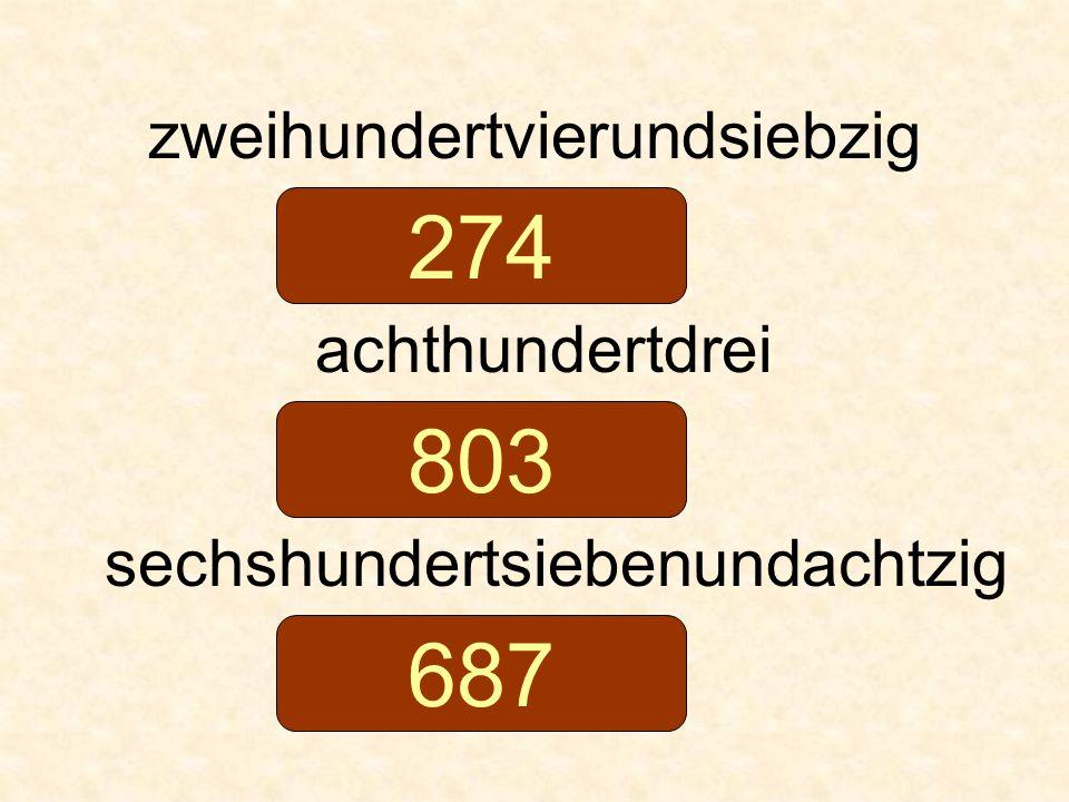 274 803 687 zweihundertvierundsiebzig achthundertdrei