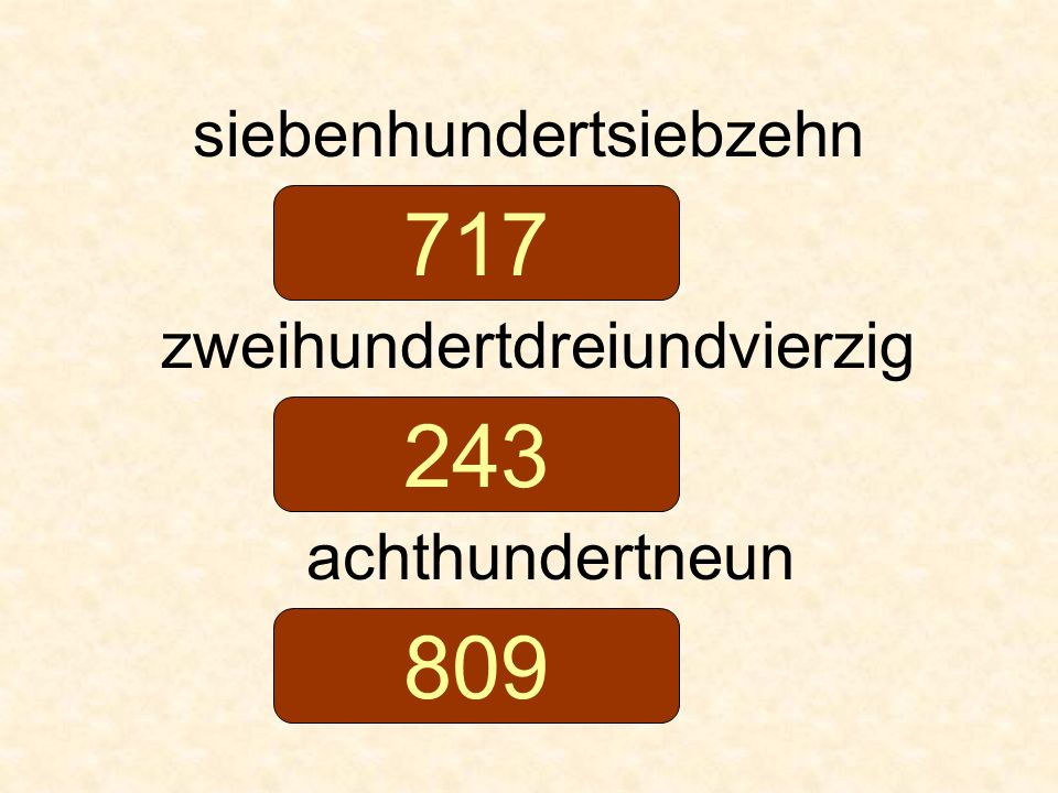 717 243 809 siebenhundertsiebzehn zweihundertdreiundvierzig
