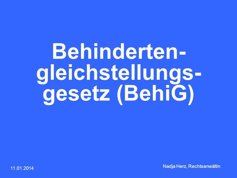 Behinderten-gleichstellungs-gesetz (BehiG)
