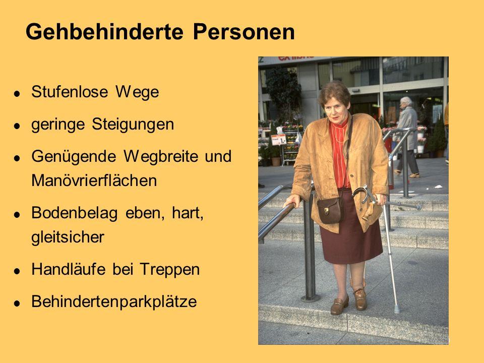 Gehbehinderte Personen