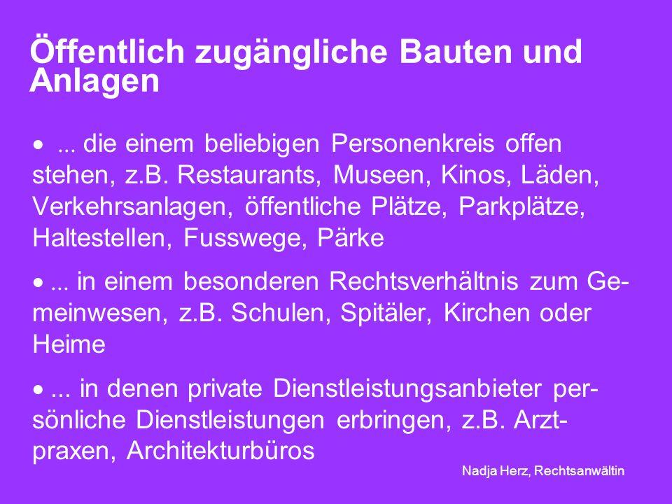 Öffentlich zugängliche Bauten und Anlagen