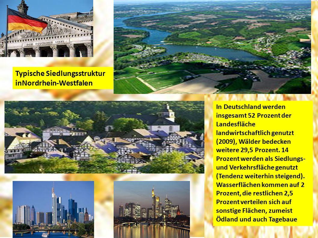 Typische Siedlungsstruktur inNordrhein-Westfalen