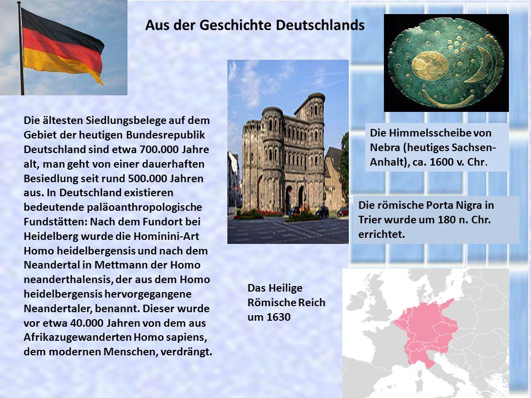 Aus der Geschichte Deutschlands
