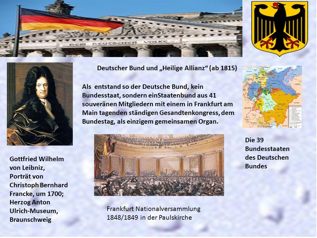 """Deutscher Bund und """"Heilige Allianz (ab 1815)"""