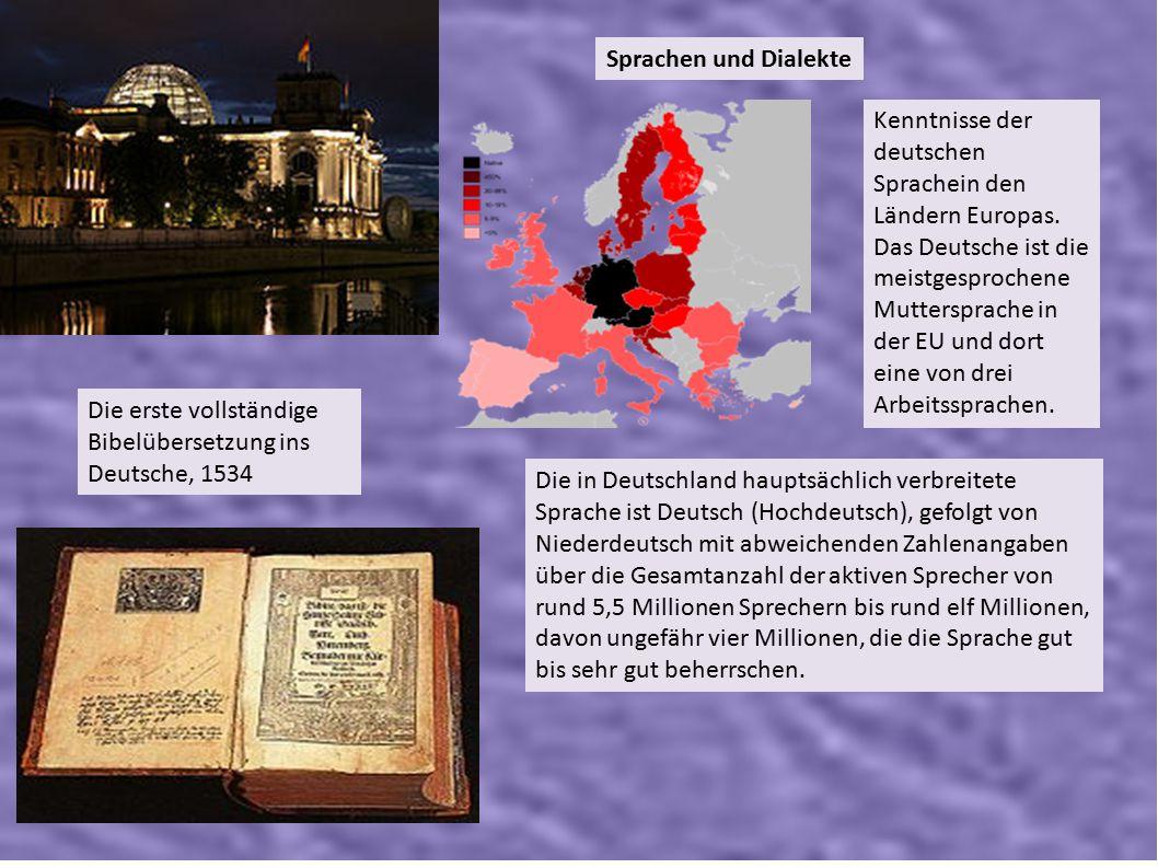Sprachen und Dialekte