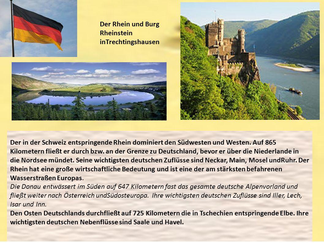 Der Rhein und Burg Rheinstein inTrechtingshausen