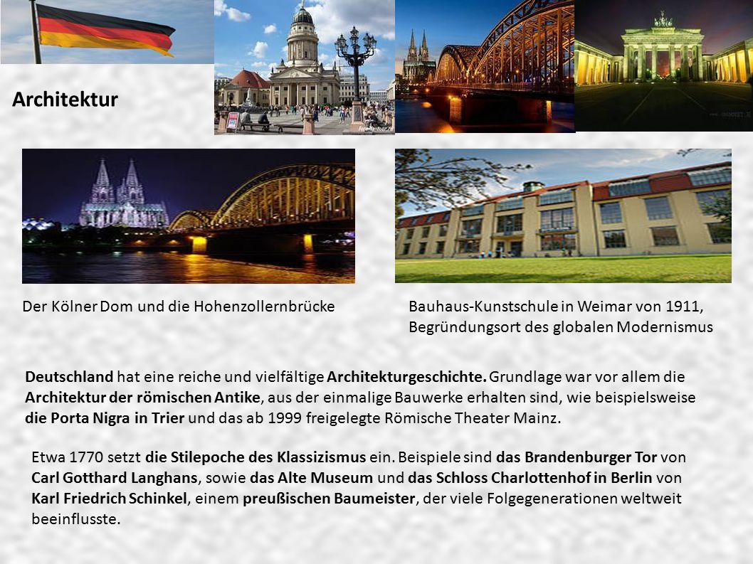 Architektur Der Kölner Dom und die Hohenzollernbrücke