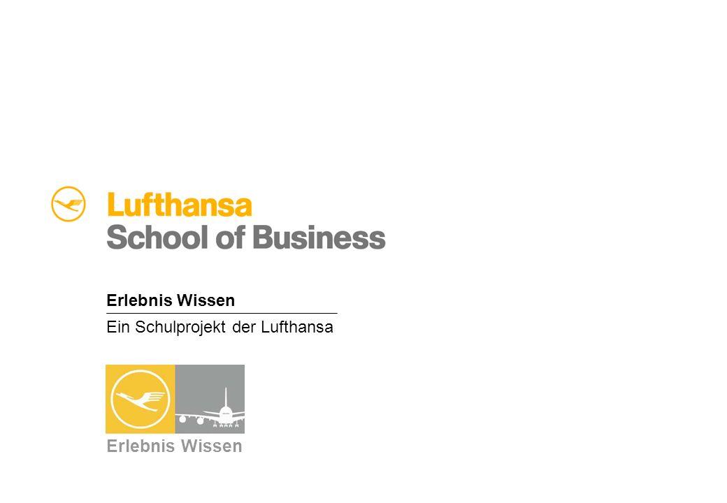 Ein Schulprojekt der Lufthansa