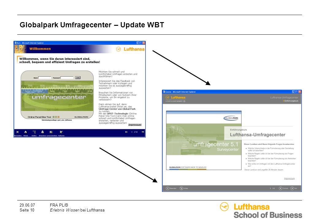 Globalpark Umfragecenter – Update WBT