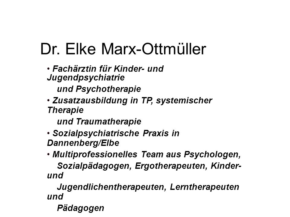 Dr. Elke Marx-Ottmüller