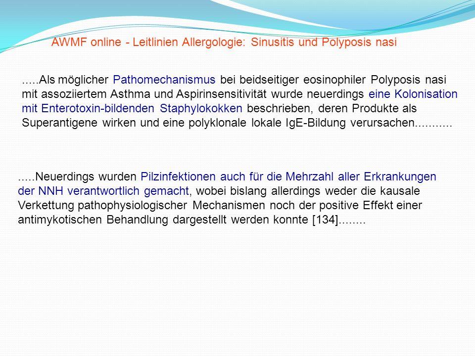AWMF online - Leitlinien Allergologie: Sinusitis und Polyposis nasi