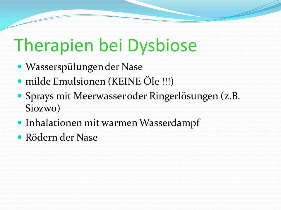 Therapien bei Dysbiose