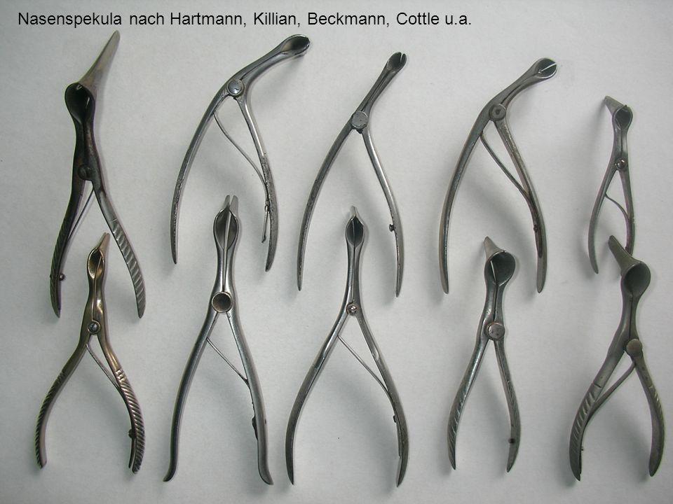 Nasenspekula nach Hartmann, Killian, Beckmann, Cottle u.a.