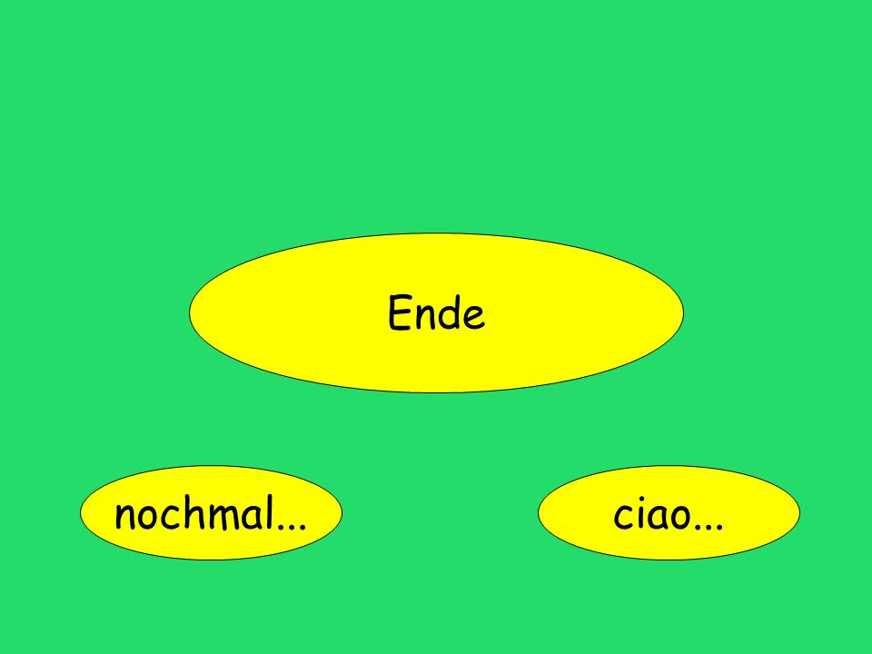 Ende nochmal... ciao...