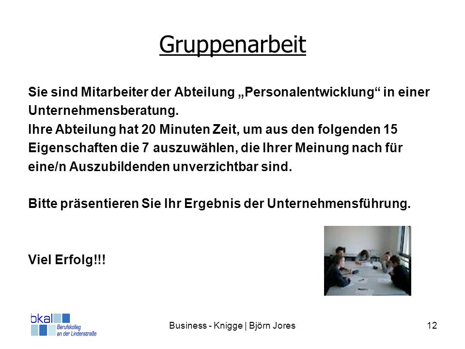 Business - Knigge | Björn Jores